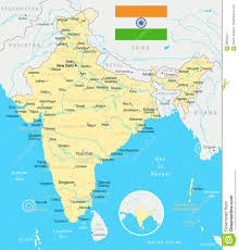 New Delhi India Map by India Map And Flag Illustration Stock Illustration Image
