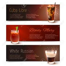white russian cocktail cuba libre bloody mary white russian cocktails horizontal banner