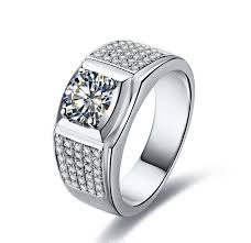 wedding ring designs for men luxury quality solid gold engagement ring for 1ct moissanite