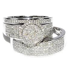 white gold wedding sets rings midwestjewellery his 10k white gold halo
