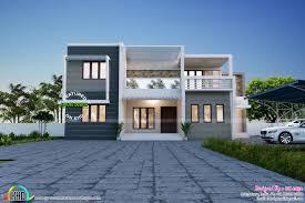 simple and elegant contemporary duplex home kerala home design