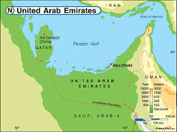 map of the uae united arab emirates physical map by maps from maps