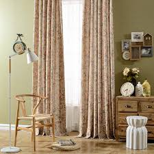 Vintage Floral Curtains Vintage Floral Printed Thick Window Curtains For Living Room