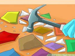 how to make a mosaic table top how to make a mosaic table make mine a mosaic table diy mosaic table