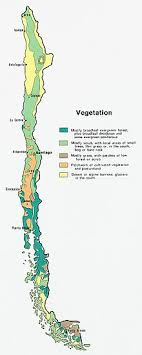 chile physical map geography of chile