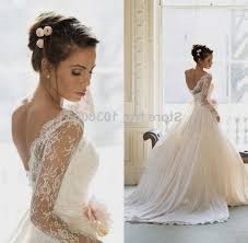wedding dress lace back and sleeves lace wedding dresses with open back and sleeves naf dresses