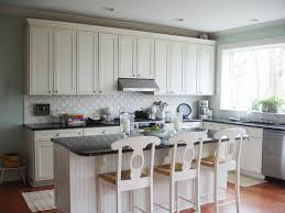 kitchen modern small kitchen design with white backsplash