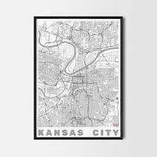 Home Decor Kansas City Kansas Gift Map Art Prints And Posters Home Decor Gifts