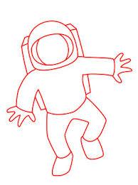 drawing cartoon astronaut