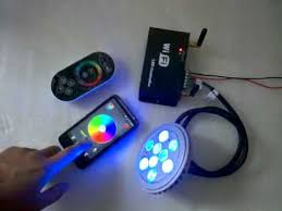 wifi led controller controlled by touch remote android cellphone