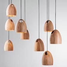 Wood Pendant Light Modern Wooden Hanging L Suspension Fixture Home Kitchen Desk