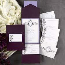 Pocket Invites 72 Diy Pockets For Wedding Invitations Eggplant Purple
