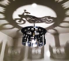 Chandelier Decor Motorcycle Shadow Light Chandelier Decor Piston Harley