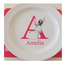 personalized melamine platter personalised melamine alphabet plate