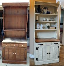 How To Make Furniture Look Rustic by Distressed Hutch Simply Made By Rebecca