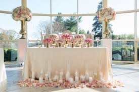 shabby chic wedding ideas glam sweetheart table design pink sweetheart table flowers