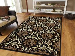 Modern Black Rug Large 8x11 Modern Rug Luxury Black Contemporary Rugs