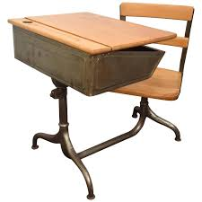 Wooden Desks For Sale Child U0027s Desk With Attached Chair For Sale At 1stdibs