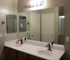 custom cut mirror vanity decoration