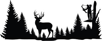 Deer Wall Decor Clear Shot Whitetail Deer Wall Decal