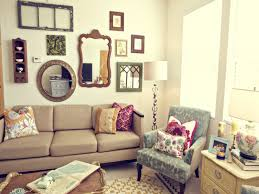 bright colors for living room decorating with mirrors for living