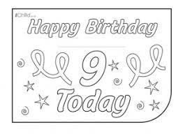 birthday card design template for 9 year old 9th birthday ichild