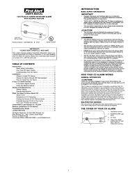 first alert fcd2np carbon monoxide alarm user manual