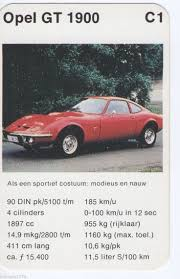 opel gt 1900 quartett autos pinterest cars
