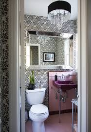 bathroom powder room ideas abstract floral powder room wallpaper design ideas lonny