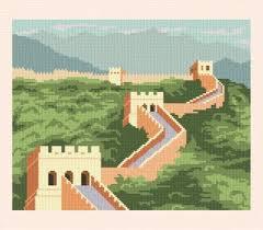 china designs great wall of china cross stitch pattern scenery
