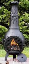 Cast Iron Outdoor Fireplace by Sun Stack Chiminea With Gas Kit Alch029gk