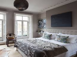 purple and gray bedroom beds decoration