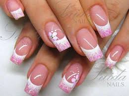 pretty french nails elegant bridal nails and bridal nail design