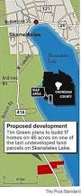 tim green wants to build skaneateles lake homes for himself