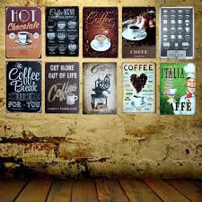 home decor plaques signs mike86 cafe menu know your coffee tin