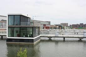 Floating Houses First Floating Homes Enter Amsterdam