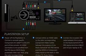 roxio game cap no color on ps3 hardware setup roxio community