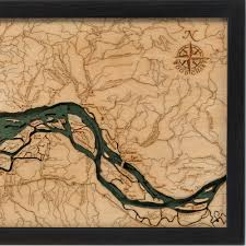 Columbia River Map Columbia River Mouth Wood Map 3d Nautical Topographic Chart