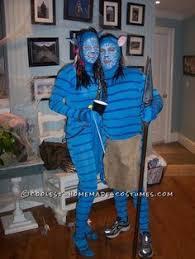 Halloween Avatar Costume Coolest Homemade Avatar Couple Halloween Costume Idea Couple
