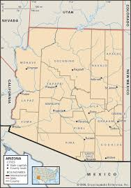 Show Me The Map Of The United States Of America by State And County Maps Of Arizona