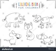 farm animal coloring book coloring book cartoon farm animals vector stock vector 331108187