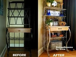 Wood Bakers Racks Furniture Designdreams By Anne Baker U0027s Rack Makeover Industrial Look