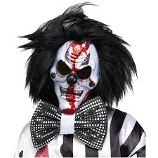 bleeding bloody killer clown face mask scary gory costume