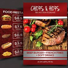 menu flyer template food menu flyer template free on pngtree