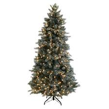 shop ge 7 5 ft pre lit scotch pine artificial tree with