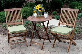 3pc square bistro set with sage weather resistant cushions