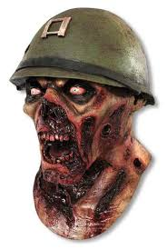 Zombie Mask Captain Lester Zombie Mask Zombie Soldier Soldiers Mask Horror