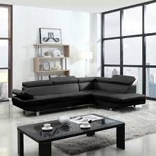 Modern White Bonded Leather Sectional Sofa Furniture Image White Tufted Sectional Quinn Sofa Bonded Leather