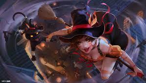 artstation nidalee halloween league of legends splash art