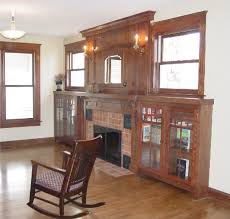 Fireplace Mantels With Bookcases Wall Units Amazing Craftsman Style Built In Bookcases Craftsman